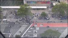 BM Genel Kuruluna giden Biden'ın araç konvoyu