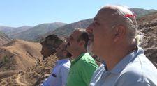 Muş'ta doğal yollarla oluşan Ovaya Bakan Adam kayası