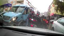 Ataşehir'de yol tartışması: Motosikletliye kafa attı