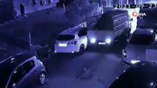 Sarıyer'de kamyonet sürücüsü sokaktan araçlara çarpa çarpa geçti