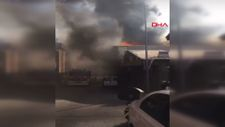Sultanbeyli'de mobilya imalathanesi alev alev yandı