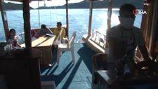 Kaleköy'de öğrenciler, okula 'mavi yolculukla' gidiyor