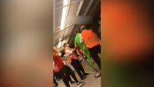 Muslera Alanyasporlu oyunculara saldırdı