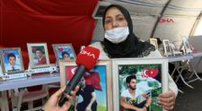 Diyarbakır'da evlat nöbetindeki anne: İki evlat acısı çekiyorum