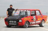 Karaman'da 20 yıl sonra bulduğu aracını modifiye ederek yarışlara katıldı
