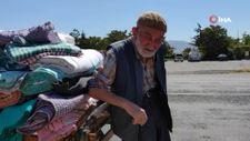 Kayseri'de 88 yaşındaki çerçici, her gün kilometrelerce yol gidiyor