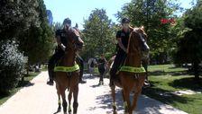 Şişli'de polisler, Maçka Demokrasi Parkı'nda atlı denetim yaptı