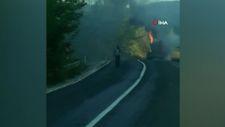 Bursa'da sülfürik asit dolu tanker yandı