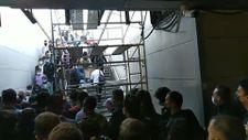 İstanbul'da metrobüs girişine konan iskele, görenleri şaşkına çevirdi