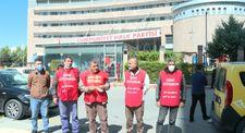 Şişli Belediyesinin işten çıkardığı 4 işçi CHP Genel Merkezi önünde açıklama yaptı
