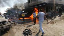 Cerablus ilçesinde düzenlenen terör saldırılarında 1 sivil öldü, 15'i yaralandı