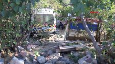 Üsküdar'da okul servisi evin bahçesine girdi