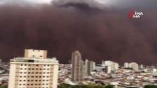 Brezilya'da kum fırtınası
