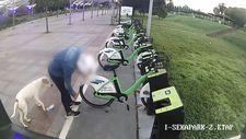 Kocaeli'deki şahıs, kiralık bisikletlerin tekerlerini patlattı