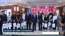 Azerbaycan'da Türk iş insanlarından şehit çocuklarına destek
