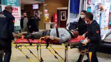 Bursa'da devrilen tırın sürücüsü yaralandı