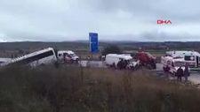 Kastamonu'da yolcu otobüsü ve minibüs çarpıştı