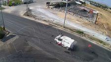 Malatya'da feci kazada motosiklet sürücüsü havaya uçtu