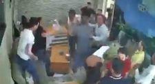 Şırnak'ta 'düğün yemeğini beğenmedik' kavgası kamerada