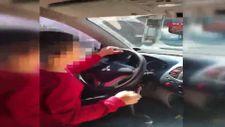 Samsun'da 7 yaşındaki oğluna otomobil sürdüren babaya ceza