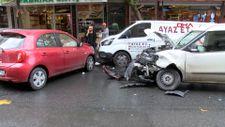 Bağcılar'da bayılan sürücü kaza yaptı