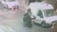 Kağıthane'de kargocuların kabusu motosikletli hırsız yakalandı