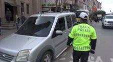 Aksaray'da yayaya yol vermeyen sürücülere ceza yağdı