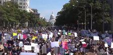 ABD'de on binlerce kişi kürtaj hakkı için gösteri düzenledi