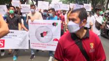 Afganlar, Endonezya'da protesto düzenledi