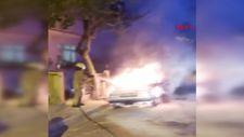 Avcılar'da otomobil alev alev yandı