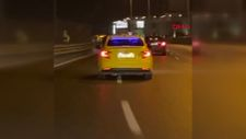 Esenyurt'ta trafik magandası taksici, tehlikeli hareketler sergiledi