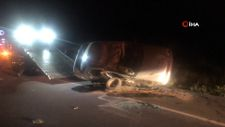 Edirne'de takla atan otomobil metrelerce sürüklendi
