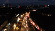 İstanbul'da haftanın ilk iş gününde trafik yoğunluğu