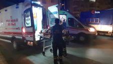 Osmaniye'de kazada savrulan otomobil aydınlatma direğine çarptı