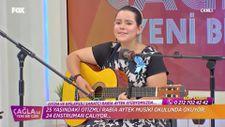 Otizmli Rabia Aytek'ten canlı yayında harika performans