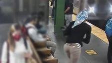 ABD'de metroda bir kadın raylara itildi