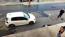 Arnavutköy'de, tartıştığı kişinin dükkanına balta ve satırla saldırdı