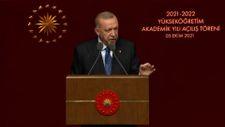 Cumhurbaşkanı Erdoğan'dan Boğaziçi'ndeki olaylara tepki