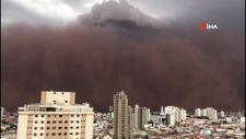 Brezilya'da Sao Paula eyaletini 3'üncü kez kum fırtınası vurdu
