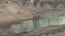 Kars'taki barajın seviyesi düşünce su altındaki tarihi yapılar gün yüzüne çıktı