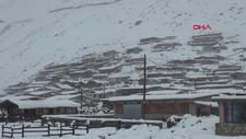 Rize'de kar kalınlığı 25 cm'yi buldu