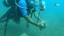 Konyaaltı Sahili'nde denizin dibinden çıkan çöpler şaşırttı