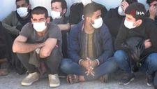 Antalya'da, 28 kaçak göçmen yakalandı