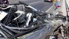 Antalya'da hurdaya dönen aracın sürücüsünün burnu bile kanamadı