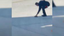 Pistte kaplumbağa gören duyarlı pilot teknisyeni uyardı