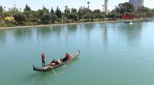 Yosunla kaplanan Seyhan Nehri temizlendi