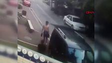 Esenyurt'ta yarı çıplak hırsız kovalamacası kamerada