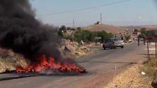Şanlıurfa'da kaçak elektrik denetimini engellemek için yolu kapattılar