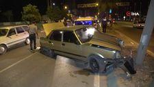 Adana'da polisten kaçarken kaza yapıp yakalandı