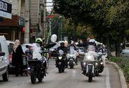 Bursa'da gelin ve damadın motosiklet aşkı